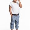 17S1-042 H&M 3/4-length pull-on trousers - 7 tuổi