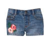 18S4-014 Crazy8 Embroidered Denim Shorts - Quần short, quần lửng bé gái