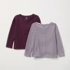 18O4-005 H&M 2-pack long-sleeved tops - 8 tuổi
