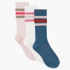 18N2-013 Gymboree Striped Tube Socks 3-Pack - 8 tuổi