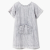 18N2-005 Gymboree Striped Denim Dress - 8 tuổi