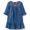 18D3-001 Crazy8 Embroidered Chambray Dress - 4 tuổi