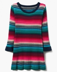 18D4-008 Gymboree Striped Sweater Dress - HÀNG GIẢM GIÁ