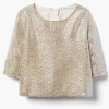 18D7-022 Gymboree Textured Metallic Top - 13-14 tuổi