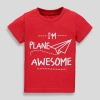 19M3-010 Matalan Plane Awesome Slogan T-Shirt - 6 tuổi