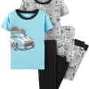 19M4-024 Carter's 4-Piece Police Car Snug Fit Cotton PJs - 6 tuổi