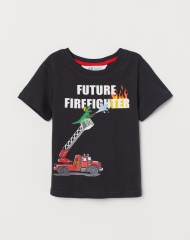 19U2-017 H&M T-shirt with Printed Design - 2 tuổi