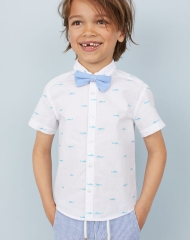 19U3-070 H&M Shirt with Tie/Bow Tie - 7 tuổi