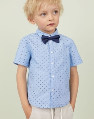 19U3-069 H&M Shirt with Tie/Bow Tie - 7 tuổi
