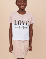 19G4-036 H&M T-shirt with Printed Design - 8-10 tuổi
