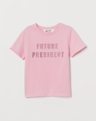 19G4-018 H&M T-shirt with Printed Design - 8-10 tuổi