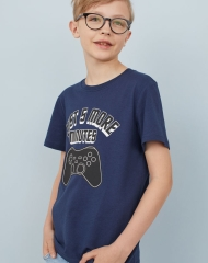 19G4-010 H&M T-shirt with Printed Design - 8-10 tuổi