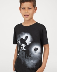 19G4-008 H&M T-shirt with Printed Design - 8-10 tuổi