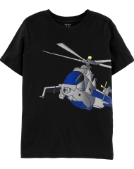 19S2-004 Carter's Helicopter Jersey Tee - 10-12 tuổi