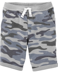 19S3-003 Carter's Camo Pull-On French Terry Shorts - 12-14 tuổi