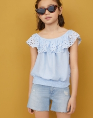 19S4-079 H&M Blouse with broderie anglaise - 12-14 tuổi
