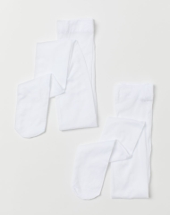 19S4-072 H&M 2-pack microfibre tights - 10-12 tuổi