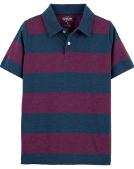 19O1-050 OshKosh Striped Jersey Polo - 8-10 tuổi