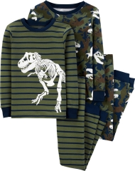 19O1-060 Carter's 4-Piece Dinosaur Snug Fit Cotton PJs - 8-10 tuổi