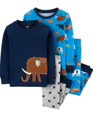 19O1-047 Carter's 4-Piece Animals Snug Fit Cotton PJs - BÉ TRAI