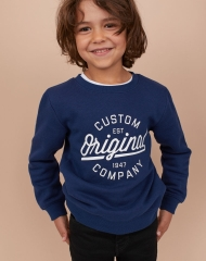 19O1-032 H&M Sweatshirt with Printed Design - 8-10 tuổi