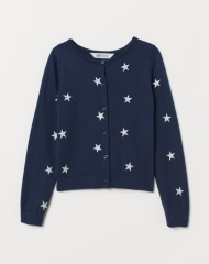 20J1-083 H&M Fine-knit Cotton Cardigan - 10-12 tuổi