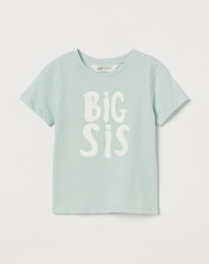 20M3-011 H&M Short-sleeved Sibling Top - 7 tuổi